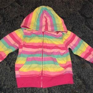 Multi color zip up jacket